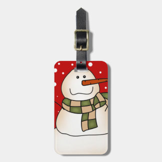 Holiday Snowman Luggage Tag