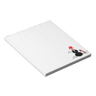 Holiday Snowman Notepad