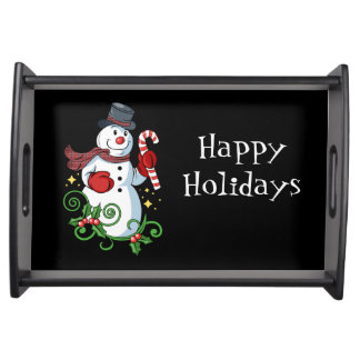Holiday Snowman Serving Tray
