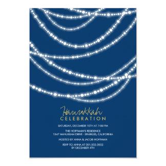 Holiday Sparkles Hanukkah Celebration Party 13 Cm X 18 Cm Invitation Card