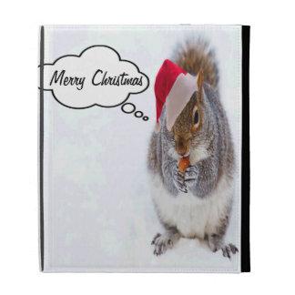 Holiday Squirrel iPad Folio Cover
