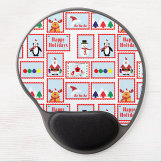 Holiday Stamp Pattern Gel Mouse Pad