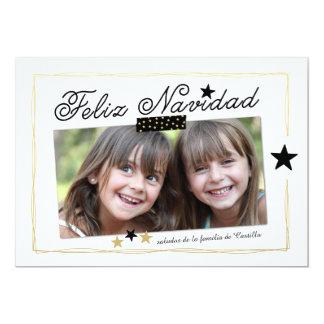 Holiday Stars | Spanish Photo Holiday Card 13 Cm X 18 Cm Invitation Card