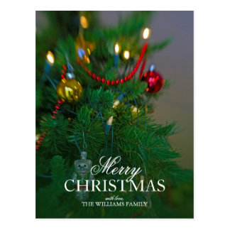 Holiday still life. Christmas tree. Postcard