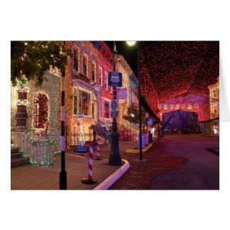 Holiday Street Lights Card