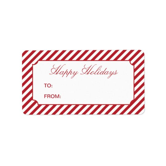 HOLIDAY STRIPES   GIFT TAGS ADDRESS LABEL