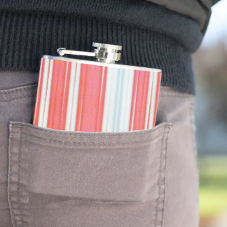 Holiday Stripes Hip Flask