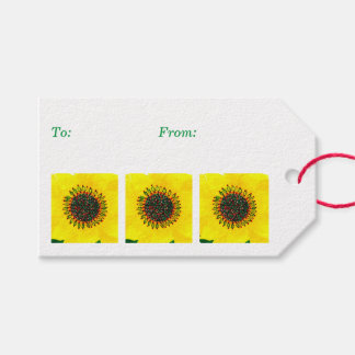 Holiday Sunflower Gift Tags