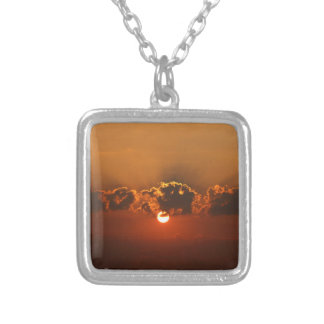 Holiday Sunset Silver Plated Necklace