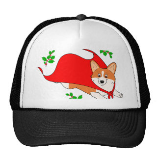 Holiday Super Corgi Cap