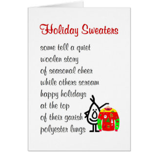 Holiday Sweaters - a funny Christmas poem Card