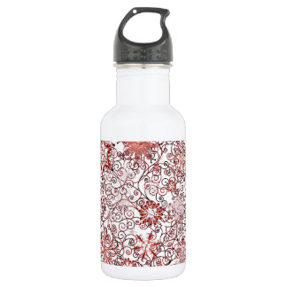 Holiday Swirl and Snowflake Abstract Design 532 Ml Water Bottle