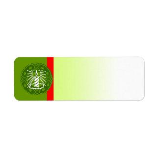 Holiday Symbol Label Candle Return Address Label