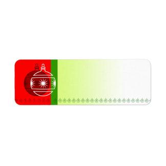 Holiday Symbol Label Ornament 2 Return Address Label