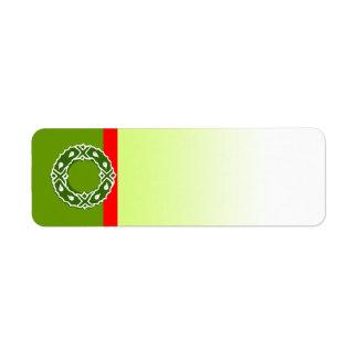 Holiday Symbol Label Wreath 2 Return Address Label