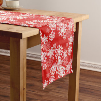 Holiday Table Runner-Snowflakes Long Table Runner