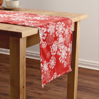 Holiday Table Runner-Snowflakes Short Table Runner