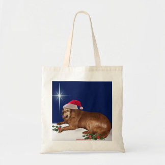 Holiday Tote with Irish Setter