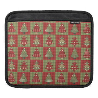 Holiday Traditional Christmas Tree Pattern iPad Sleeve