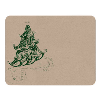Holiday Tree 11 Cm X 14 Cm Invitation Card