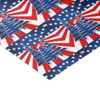 Holiday Trees in a Stars and Stripes Theme Tissue Paper