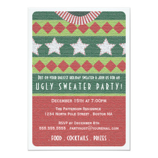 Holiday Ugly Sweater Party Invitation