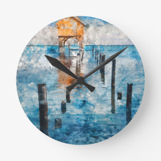 Holiday Vacation - Ambergris Caye Belize Round Clock