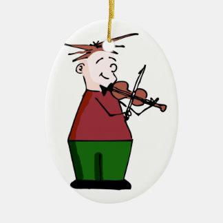Holiday Violin Guy Ornament