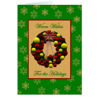 Holiday warm wishes Card