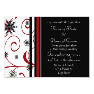 Holiday Wedding Invitation Cards