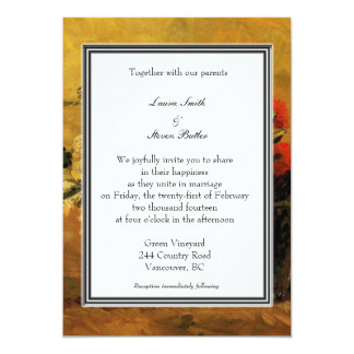holiday wedding invitation. van Gogh 13 Cm X 18 Cm Invitation Card