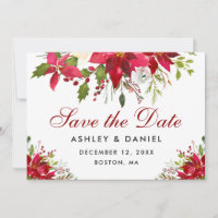 Holiday Wedding Poinsettia Floral
