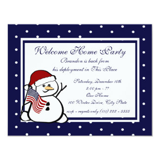 Holiday Welcome Home Military 11 Cm X 14 Cm Invitation Card