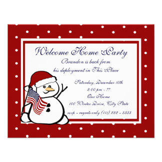 Holiday Welcome Home Military Custom Invitation