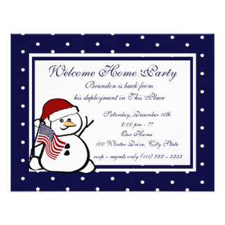 Holiday Welcome Home Military Custom Invites