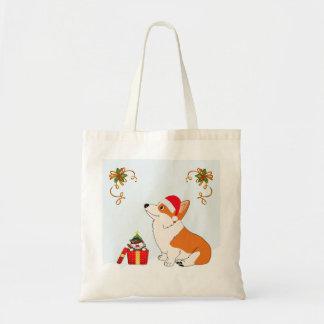 Holiday Welsh Corgi Cartoon Tote Bag