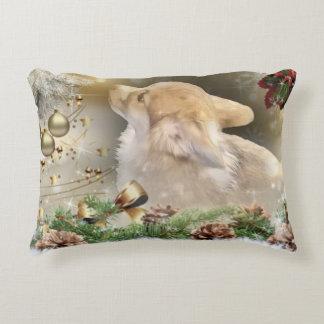Holiday Welsh Corgi Puppy Decorative Cushion