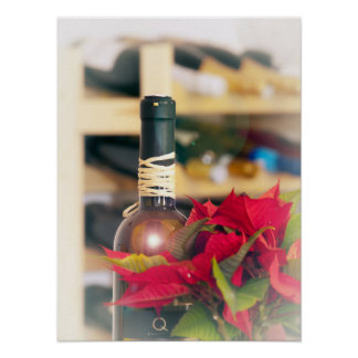 Holiday wine poster
