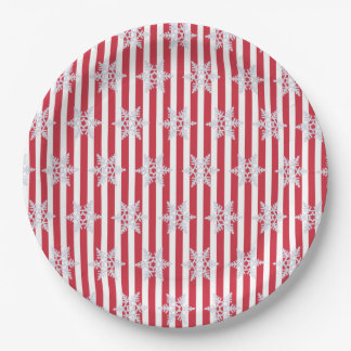 Holiday Winter Wishes Snowflakes Party Plates