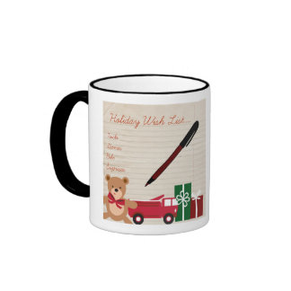 Holiday Wish List Coffee Mugs
