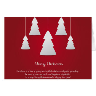 Holiday Wishes Christmas Tree Greeting Card