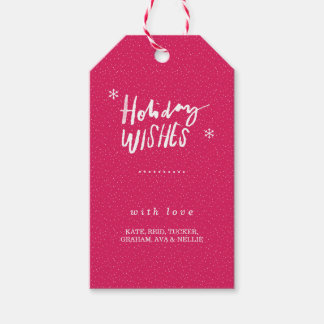 Holiday Wishes Gift Tag - Light