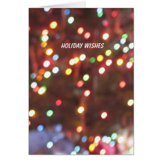 HOLIDAY WISHES GREETING CARD