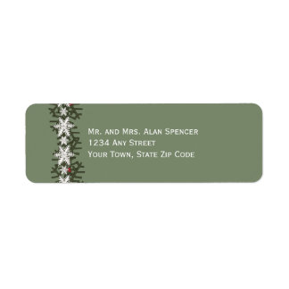 Holiday Wishes Return Address Labels