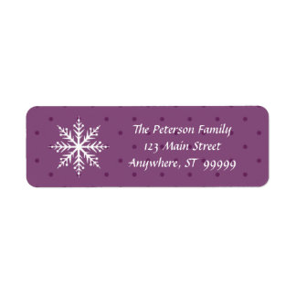 Holiday Wishes & Snowflake Kisses Return Address Label