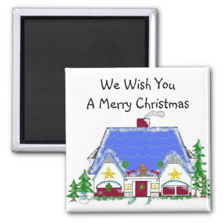 Holiday Wishes Square Magnet