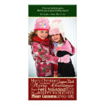 Holiday Words Collage Christmas Photo Card