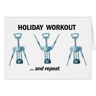 Holiday Workout Greeting Card