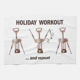 Holiday Workout Tea Towel