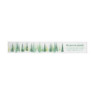 Holiday Wrap Around Address Label Christmas Trees Wraparound Return Address Label